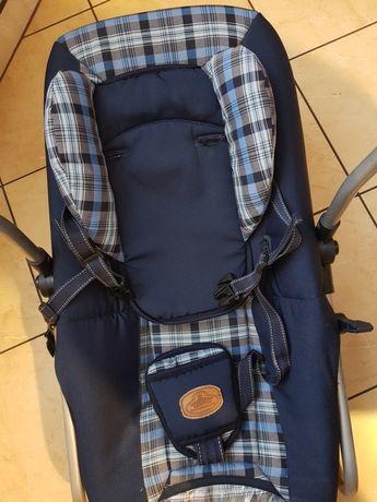 Leżaczek bujaczek z wkładką niemowlęcą leżak bujak