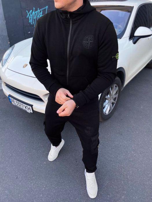 Зимний костюм стон айленд черный зимний спортивный костюм stone island Киев - изображение 1