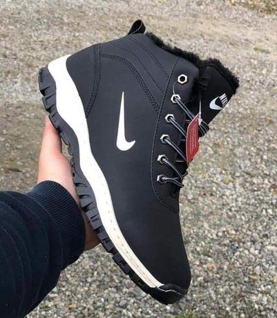 Męskie od 41-46 zimowe buty czarne