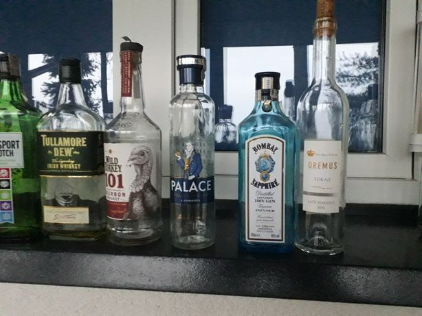 Butelki po alkoholu na nalewkę  babuni
