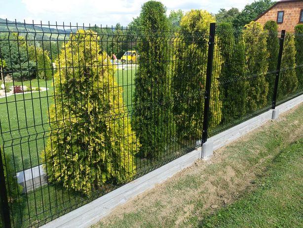 Panele ogrodzeniowe .Kompletne ogrodzenie panelowe h123 fi4. Cena 48zl