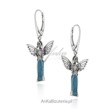 ankabizuteria.pl łańcuszek agnieszka Kolczyki srebrne z niebieskim tur