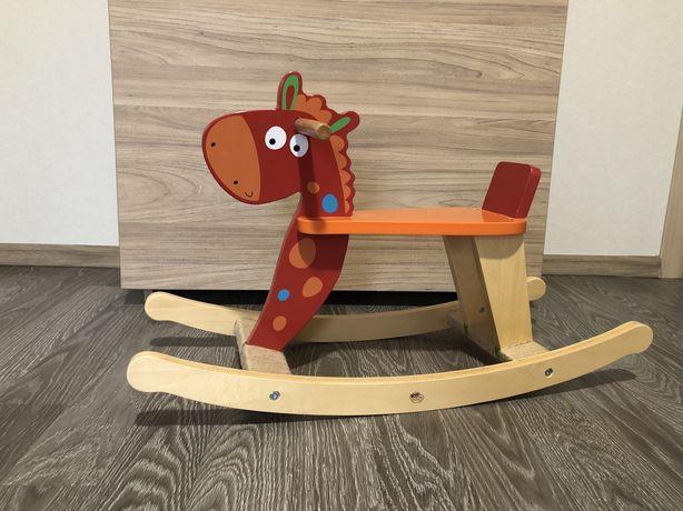Деревянная лошадка каталка grow play