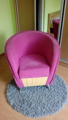 Rozowy Fotel dziecięcy