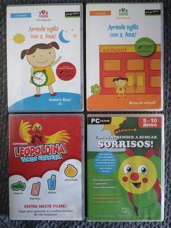 Filmes e jogo de pc educativos - 4 a 10 anos