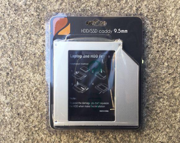 """Caddy 9.5mm para Disco de 2.5"""" / Adaptador Caddy MacBook - Novo"""