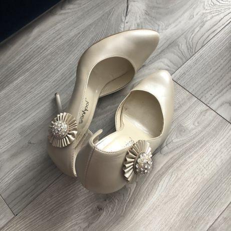 Perlowe szpilki 39, buty slubne, szpilki slubne 39