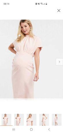 Ciążowa sukienka nowa XXL 42 pudrowy róż