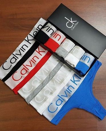 Комплект женских стрингов 5 шт Calvin Klein люкс качество