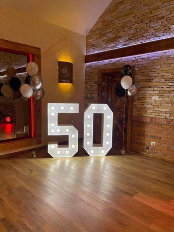 Cyfry z podświetleniem LED liczby dekoracja urodziny