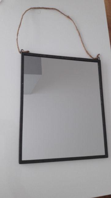 Espelho ferro/industrial com cordão
