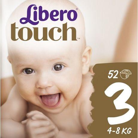 Акция! Libero Подгузники Touch (3,4,)52шт тач либеро Comfort