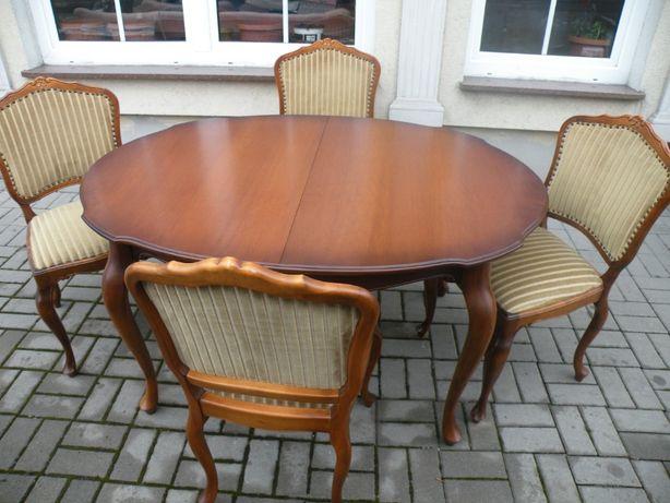 Stół i 4 krzesła w Stylu Ludwika
