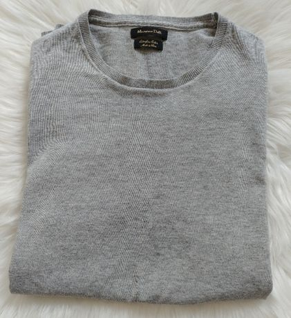 Gładki sweter z bawełny Massimo Dutti