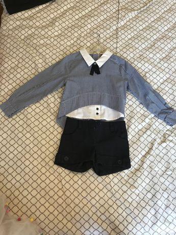 Шкільна блуза та шорти