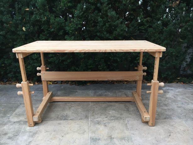Biurko rosnące wraz z dzieckiem regulowane drewniane, świeżo wyczyszcz