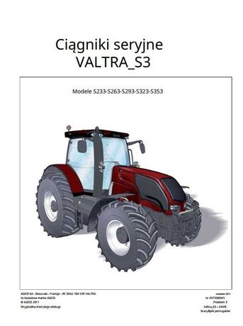 Instrukcja Obsługi Valtra S 233, S263, S293, S323, S353 PL