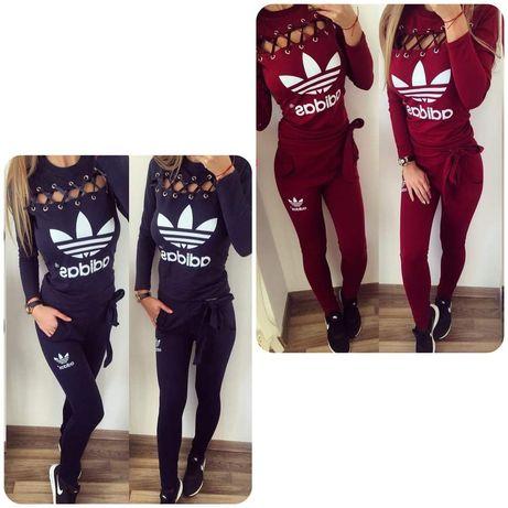 Dres zestaw damski bluza spodnie Adidas s m l xl