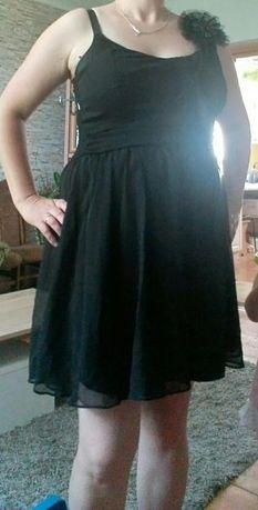 Czarna szyfonowa sukienka r44