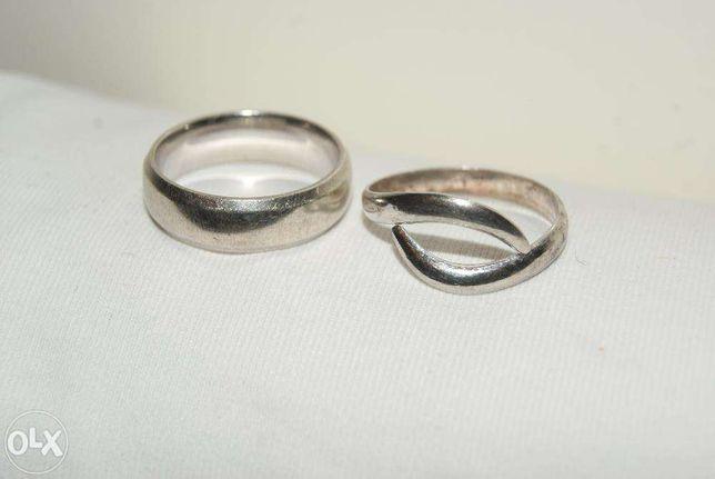 obrączka pierścionek, srebro P
