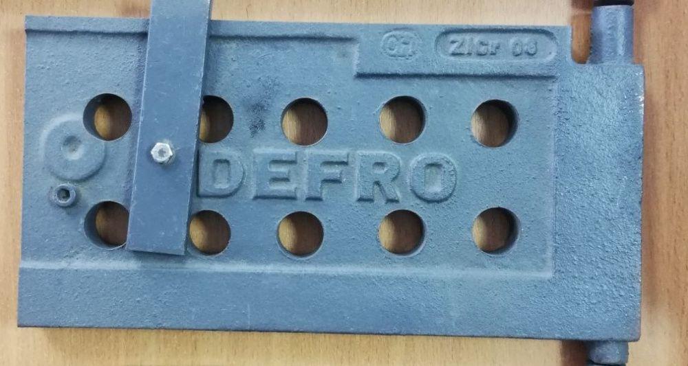 Drzwiczki żeliwne pełne do kotła Defro wymiar 26x13 cm
