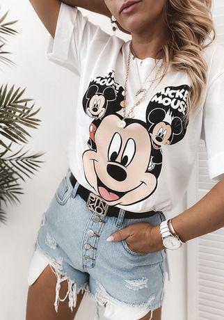 T-shirt Bluzka Biała czarna Myszka Miki Mouse Disney S M L XL