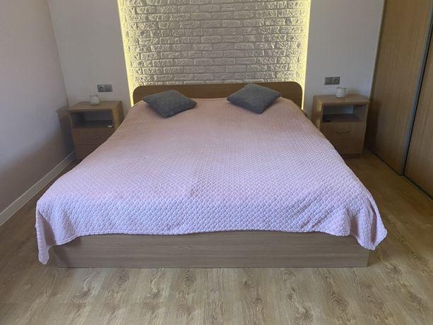 Sypialnia łóżko materac stoliki nocne komoda