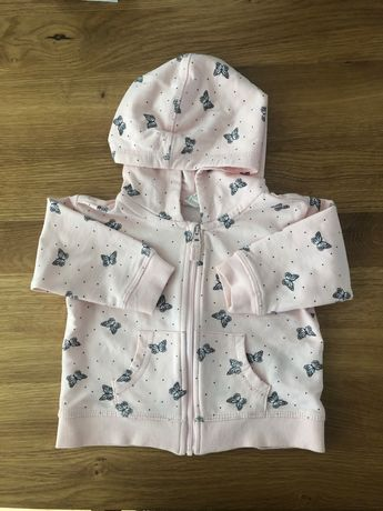 Bluza H&M różowa motylki r. 68