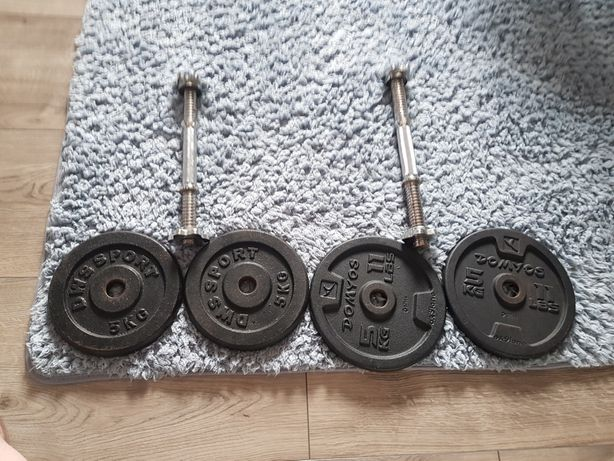 Hantle 2 x 10 kg żeliwne