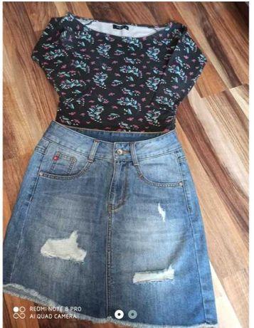 komplet dla nastolatki spódnica BIG Star bluzka Reserved r. s 164/170