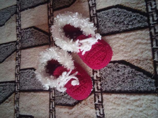 Пинетки вязаные новые первая обувь