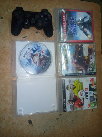 Gry ps3 plus 1 Pad