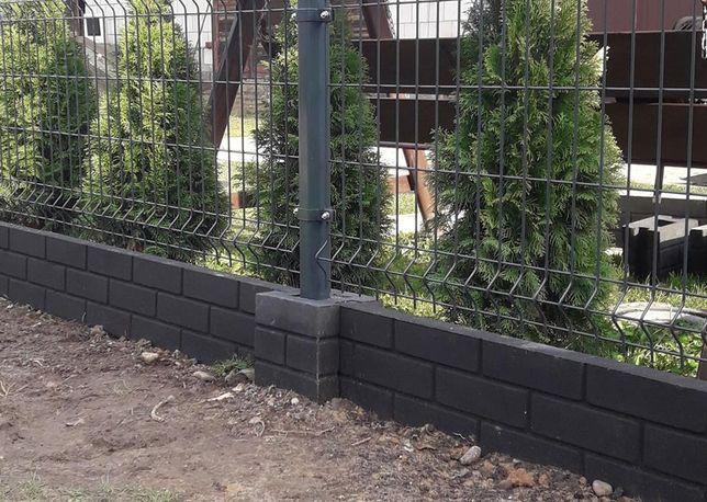 Podmurówka betonowa dwustronna grafitowa barwiona w trakcie produkcji