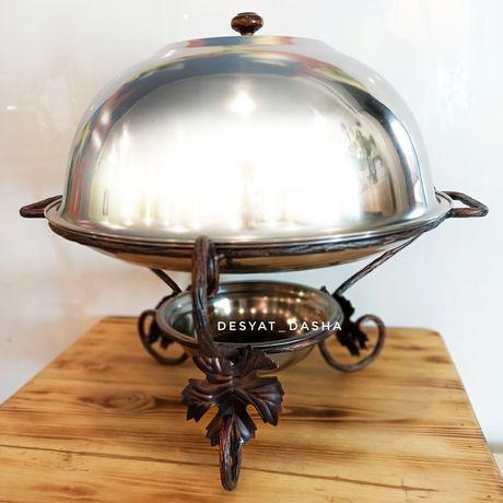 Садж Мармит для красивой подачи шашлыка гриля 36см большой мангал