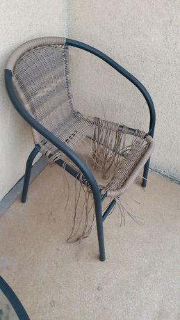 2 sztuki Krzesła balkonowe, ogrodowe