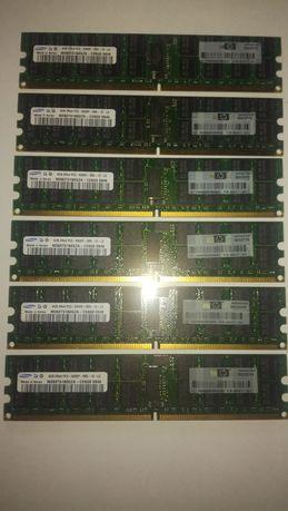 Kości ram ddr2 serwerowe po 4GB 6szt. Cena za wszystkie