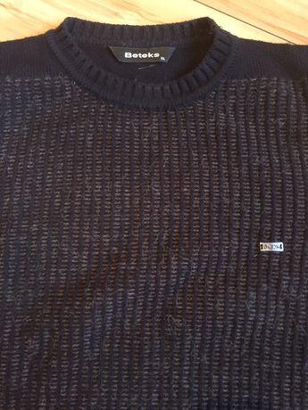 Sweter męski Beteks XL wełniany