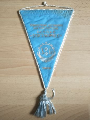 Proporczyk sportowy Stoczniowiec Gdańsk vintage