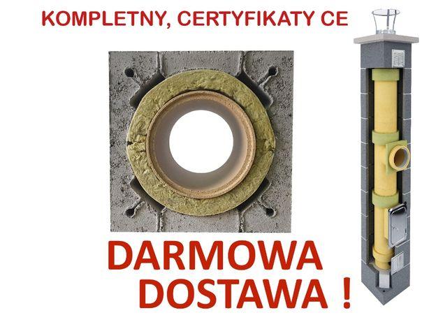 KOMPLETNY komin ceramiczny system kominowy K fi 200 7m najtaniej