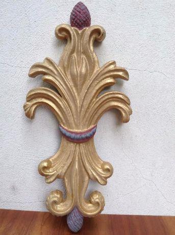 Talha madeira dourado e pintura a óleo decoraçao em madeira
