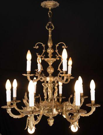 Люстра бронзовая светильник бронзовый Испания люстра старая