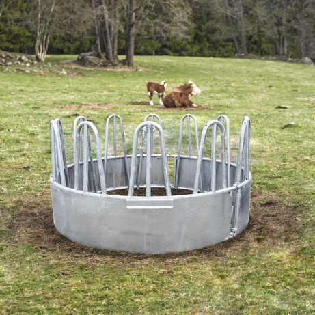 Paśnik koni lub bydła trzody okrągły 9 12 stanowisk, ocynk