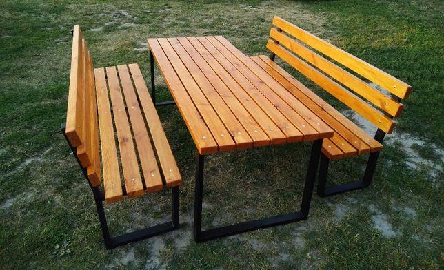 Duży Zestaw Mebli Ogrodowych stół + ławki(meble ogrodowe)