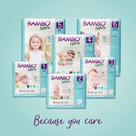 Акция !ЭКО подгузники #1 в мире BAMBO Nature.Дания. Mini (2)30 штук.