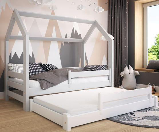 Łóżko DOMEK DUOmi hause z barierkami dla dzieci