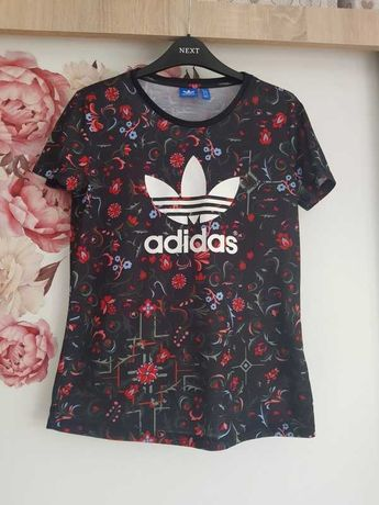 Tshirt adidas kwiatowy wzór