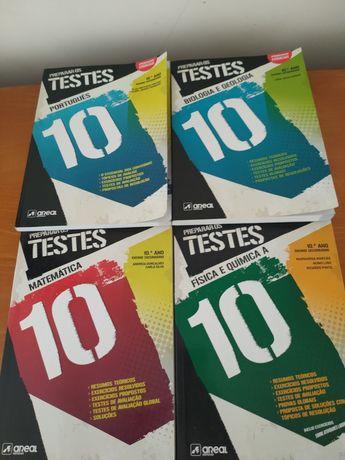 Livros preparação exames/testes escolares secundários