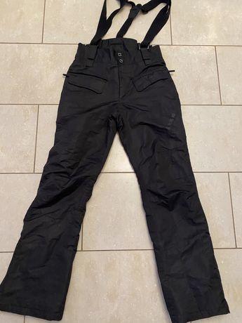 Stormberg spodnie zimowe S czarne, szelki extra stan Uniseks