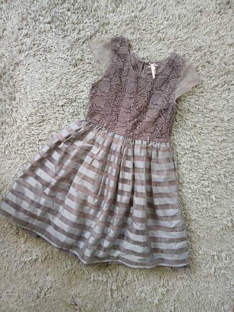 Dziewczęca sukienka balowa z tiuelm Next 11lat 146cm