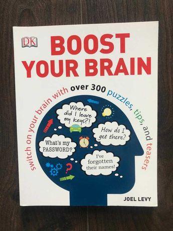 Boost your brain - Joel Levy - książka w języku angielskim, łamigłówki